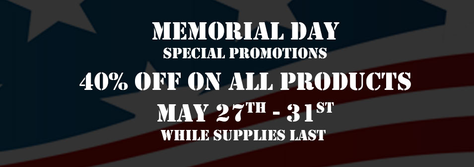 Memorial Day 2016 Special Offer